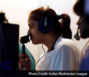 Saina Nehwal in Hindi commentary box
