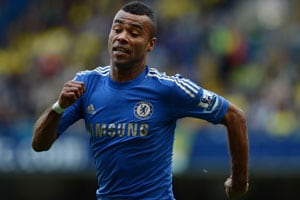 Ashley Cole in action for Chelsea in the English Premier League