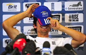 The Ashes: Girl faints at Alastair Cook's press conference