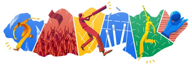 Google doodle inspired by ICC Cricket T20 final between India and Sri Lanka