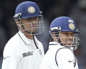Sachin Tendulkar and Rahul Dravid (file photo)