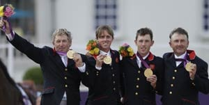 London 2012 Equestrian: Britain wins team show jumping in gold jumpoff