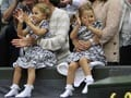 Roger Federer's twins cheer for their 'Daddy Dearest'