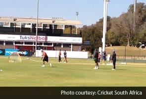 India A players seen practicing in Pretoria