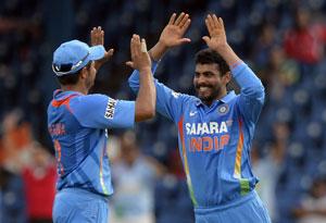India vs Sri Lanka: Raina, Jadeja celebrates wicket