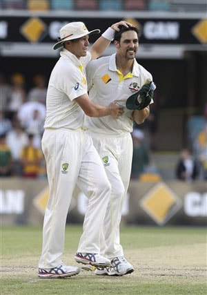 Peter Siddle and Mitchell Johnson
