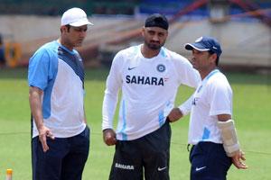 Anil Kumble, Harbajan Singh and Sachin Tendulkar