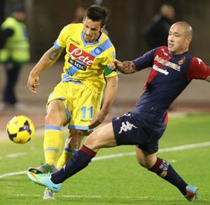 Serie A: Pepe Reina injured again as Napoli drop points