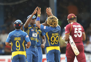 Tri-series: Sri Lanka beat West Indies by 39 runs (D/L method) in Trinidad