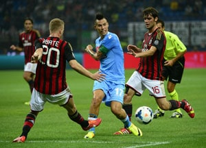 Serie A: Epic win for Napoli over AC Milan but Roma stay top