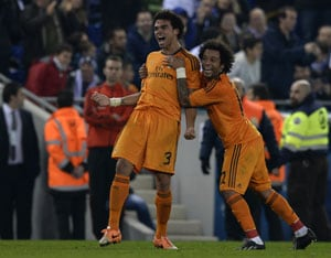 Pepe (left) and Marcelo