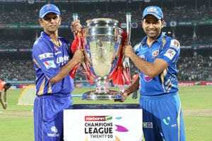 CLT20 Live Cricket Score: Rahul Dravid and Rohit Sharma