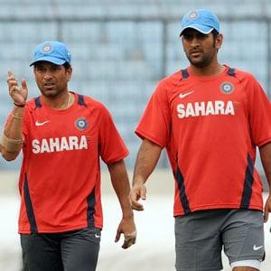 Sachin Tendulkar and Mahendra Singh Dhoni
