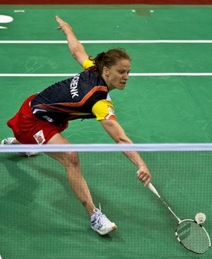 Pune Piston's Juliane Schenk in action