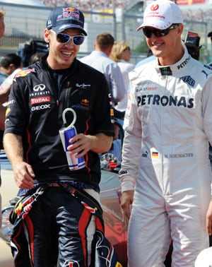 Michael Schumacher: Formula One drivers wish 'crazy daredevil' a speedy recovery