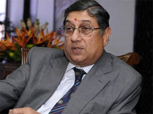N Srinivasan arrives to attend BCCI's disciplinary committee meeting
