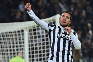 Serie A: Tevez hat-trick takes Juve six points clear, Napoli beat Inter