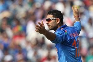 1st ODI Live Cricket Score: Yuvraj Singh