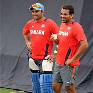 Virender Sehwag and Zaheer Khan (file photo)