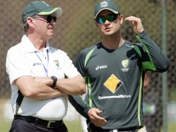 Michael Clarke Powers Through Wet Training Session in Sydney