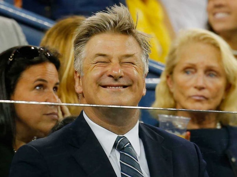 Hollywood Actor Alec Baldwin Snags Stray Ball at US Open