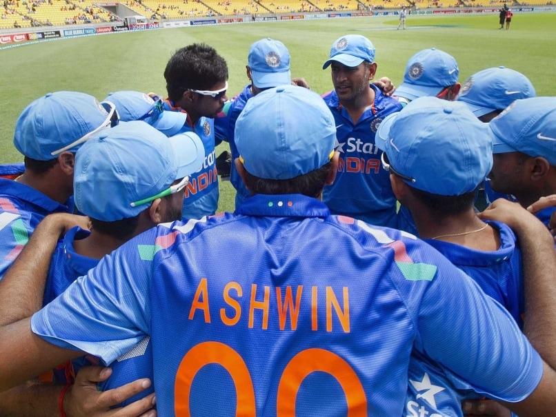 India cricket huddle