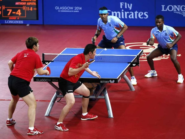 2014 Commonwealth Games: Sharath Kamal-Anthony Amalraj Claim Silver in Table Tennis Mens Doubles