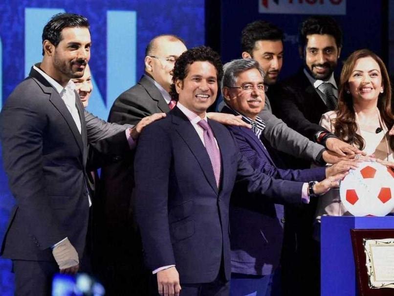 Sachin Tendulkar, Ranbir Kapoor, John Abraham, Abhishek Bachchan Launch ISL