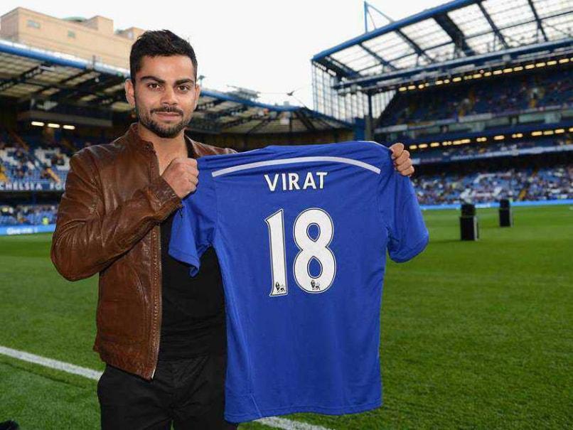 new style 90dfc c4acc Virat Kohli Visits Chelsea F.C. Stadium as Final India vs ...