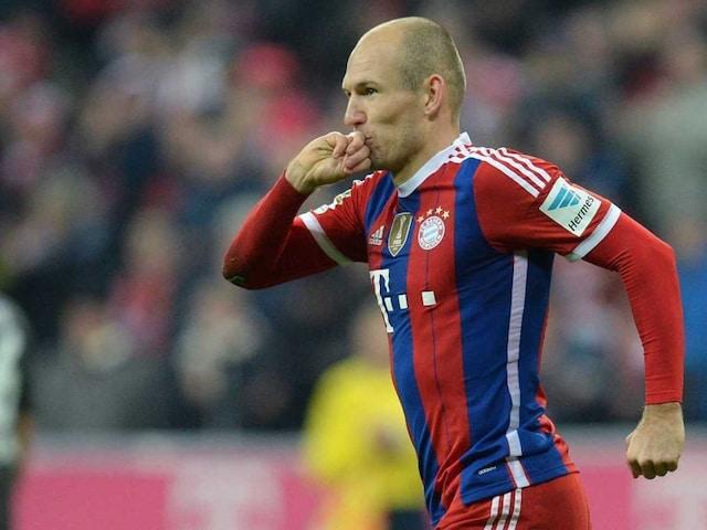 Arjen Robben Scores 100th Goal for Bayern Munich