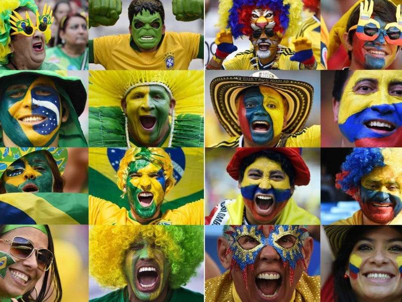 Brazil Colombia fans
