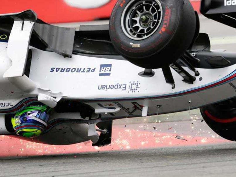 German F1: Felipe Massa Unhurt in Spectacular First Bend Crash