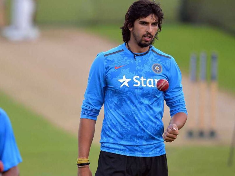 Ishant Sharma warms up at  as Team India prepare ahead of their first Test vs England at Trent Bridge.