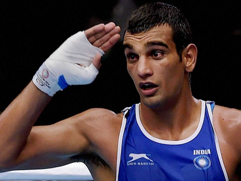 Mandeep Jangra Sails Into Pre-Quarters of Asian Boxing Championships