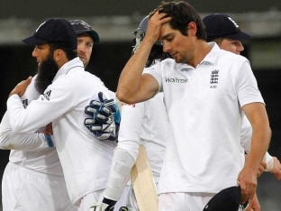 Alastair Cook Test match frustration