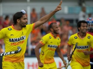India registered their first win of the Hockey World Cup 2014 against Malaysia