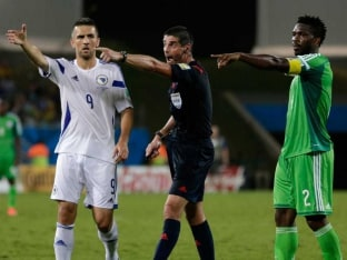 Fuming Edin Dzeko Slams Referee for Bosnia's Loss to Nigeria