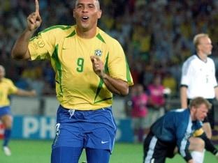 FIFA World Cup: Brazil's Ronaldo Cheering Against Miroslav Klose
