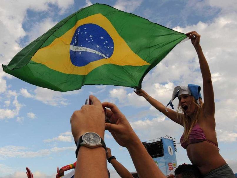 Brazil flag fans