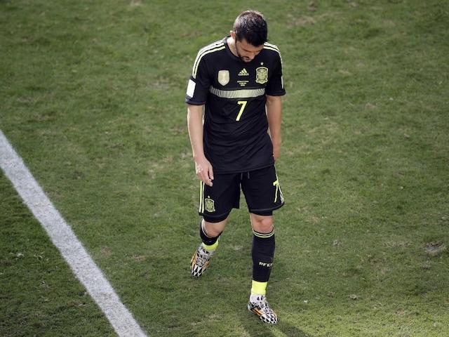 David Villas Tearful End to Spain Career