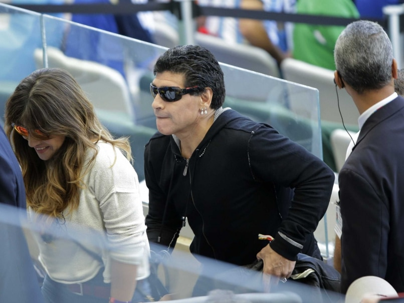 Diego Maradona Hits Journalist at Event in Argentina