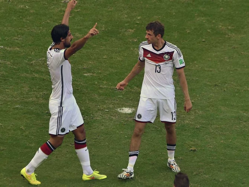 Thomas Muller (left) scored three against Portugal. He has since not been able to stage an encore.
