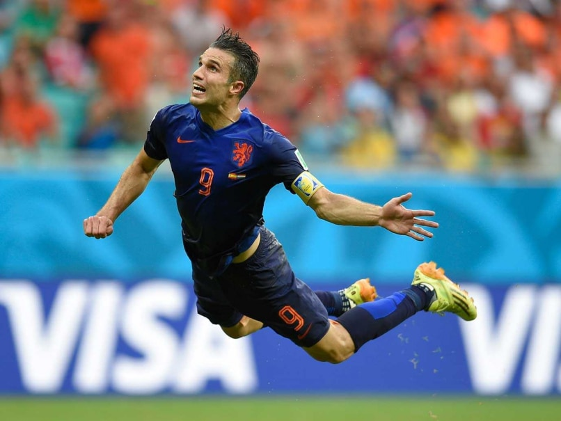 Strikers on a high! Robin van Persie's epic goal against Spain.