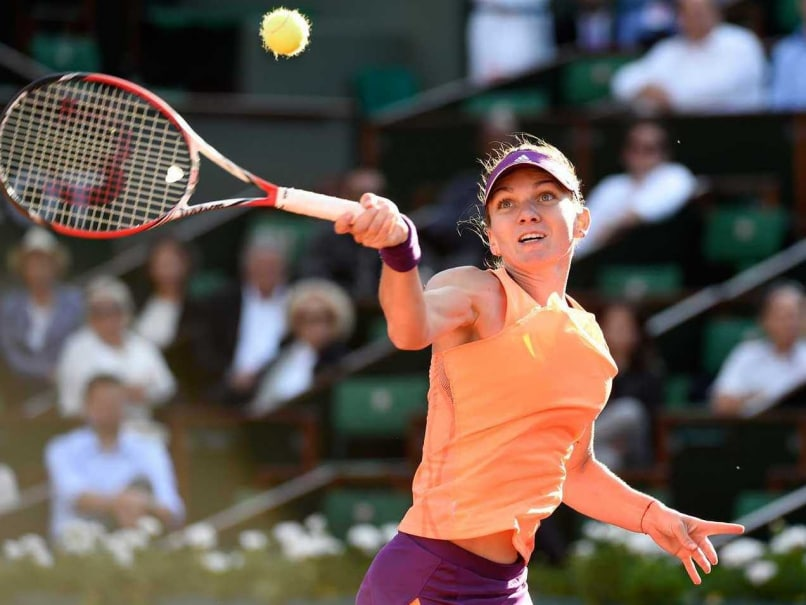 Simona Halep in action during during French Open