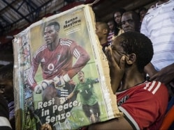 South African Fans Bid Emotional Farewell to Slain Football Captain