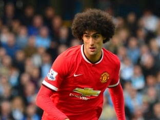 Manchester United Manager Louis van Gaal Tells Marouane Fellaini To Control Himself