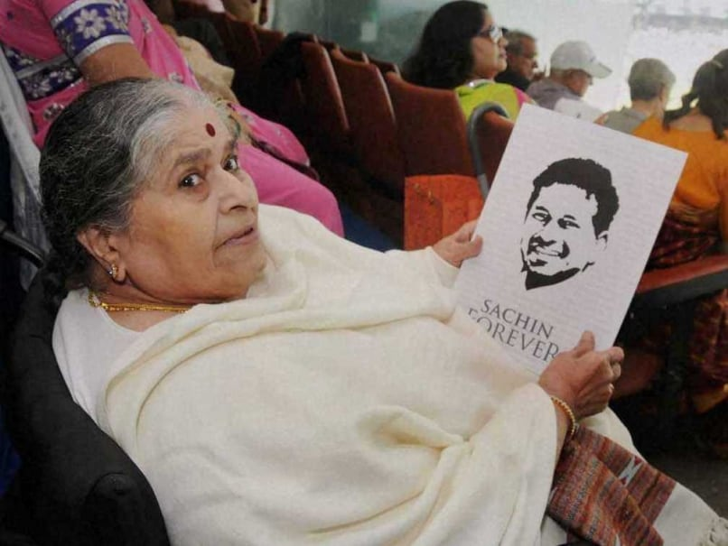 Sachin Tendulkar Hands First Copy of Book to Mother Rajni