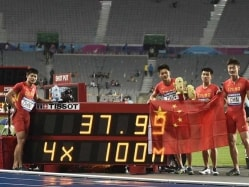 Asian Games: Chinese 4x100m Men's Relay Team Breaks Asian Record