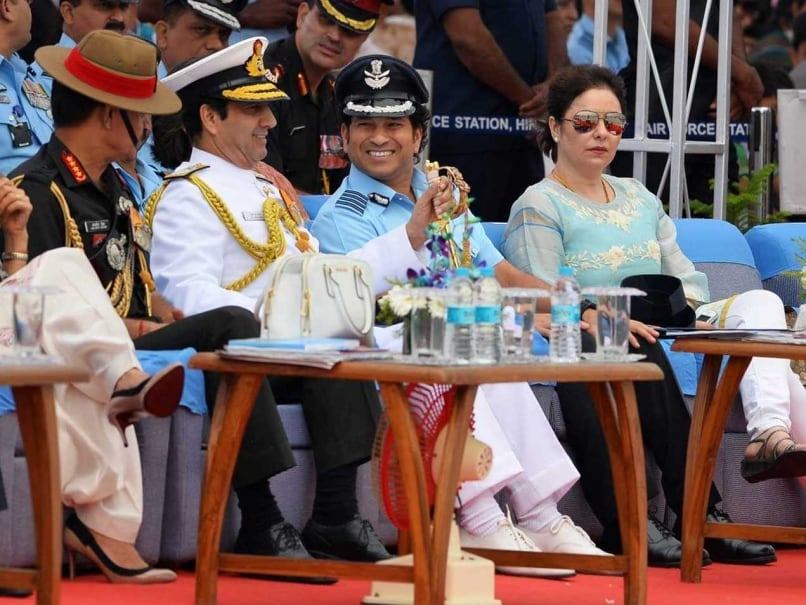 Sachin Tendulkar Attends 82nd Foundation Day of Indian Air Force