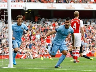 EPL: Sergio Aguero, Martin Demichelis Score as Manchester City Draw 2-2 vs Arsenal